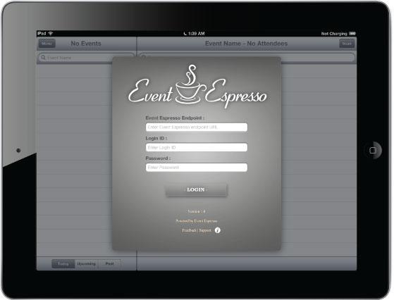 iPad Login Screen