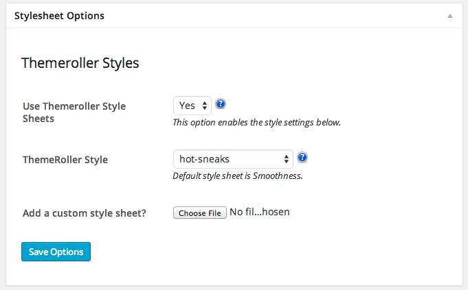 If you are using any of the Themeroller styles you should add custom changes to your child theme's stylesheet!