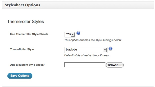 Style Sheet Options