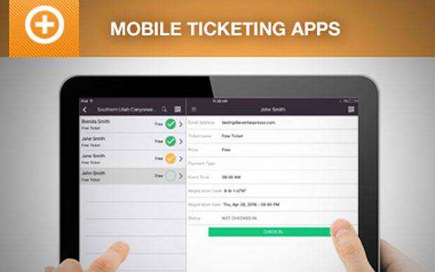 Scan tickets and check in attendees using a mobile ticketing