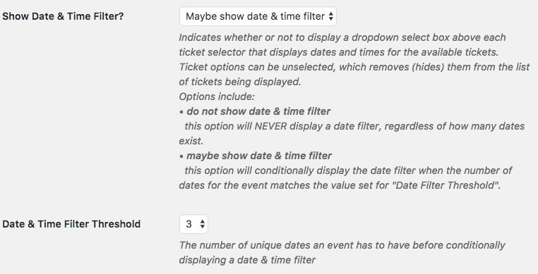 Filter Tickets by Date