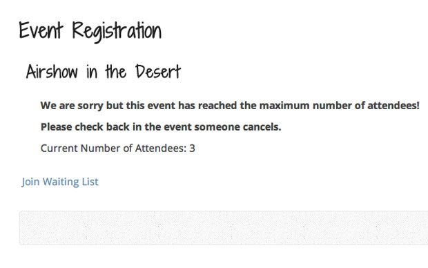 Event Registration Waiting Lists