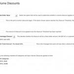 Volume Discount Settings