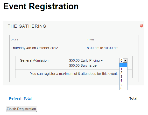 Multiple Event Registration - view cart