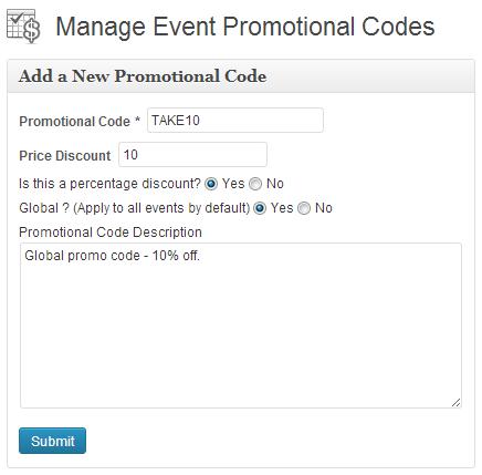 Promo code builder