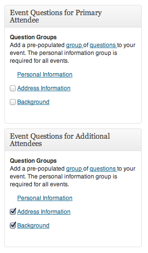 Attendee Question Groups