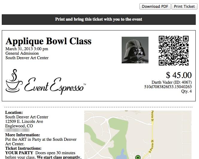 Ticketing Addon Event Espresso WordPress Event Registration – E Ticket Template
