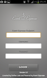 Event Espresso Mobile App Login Details