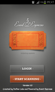 Event Espresso Mobile App Login Screen