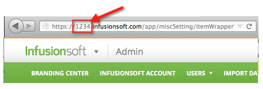 Infusionsoft Application Name