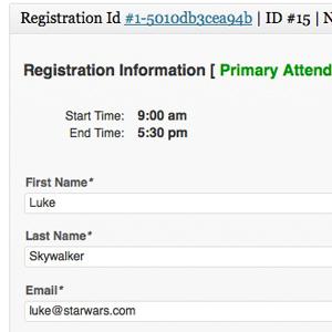 WordPress Event Attendee Data
