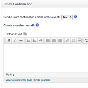 Custom Confirmation Emails