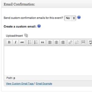 Custom Confirmation Emails