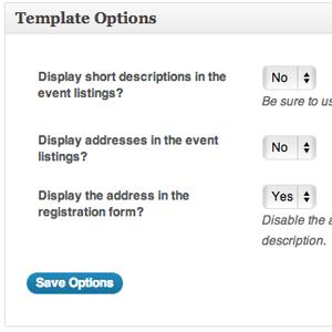 WordPress Event Registration Page