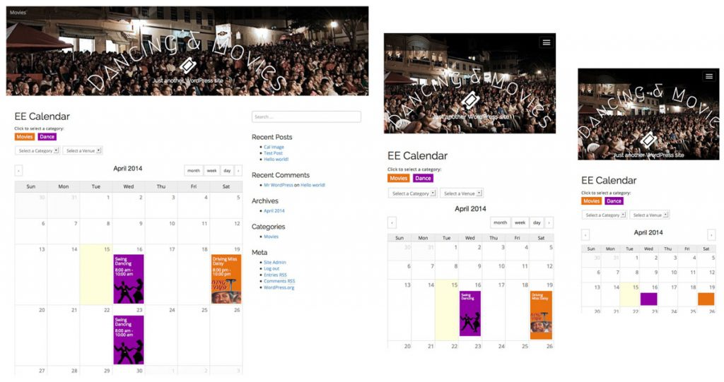 Events Calendar for WordPress
