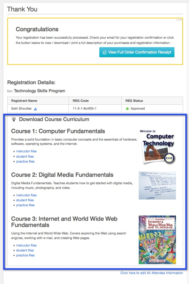 Add a Course Curriculum Section to the