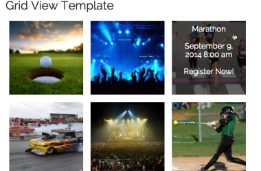 Events Grid View Template