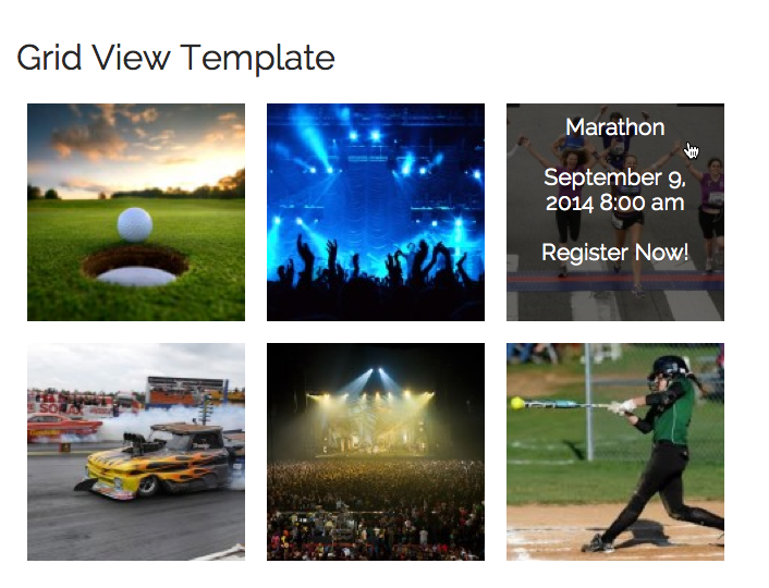 Events Grid View Template add-on help & documentation