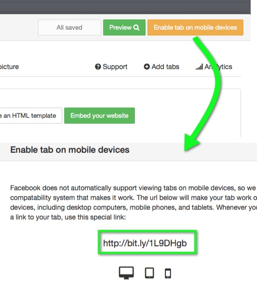 facebook-paste-embed-code-mobile-device
