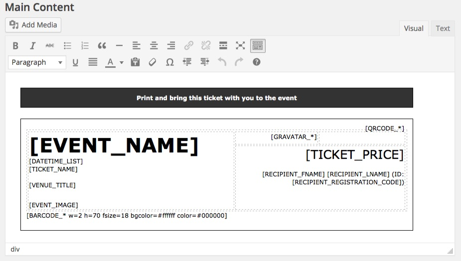Event ticketing through WordPress