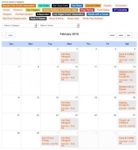 car show registration calendar