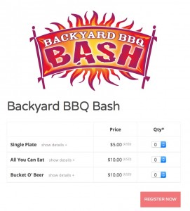 backyard bbq ticketing example