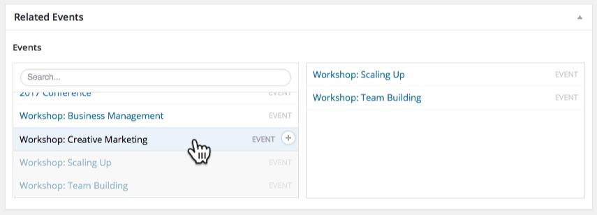 Adding Related Events Using Advanced Custom Fields - WordPress Event
