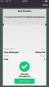 Successfull Check-in - Check-in & Ticket Scanning App