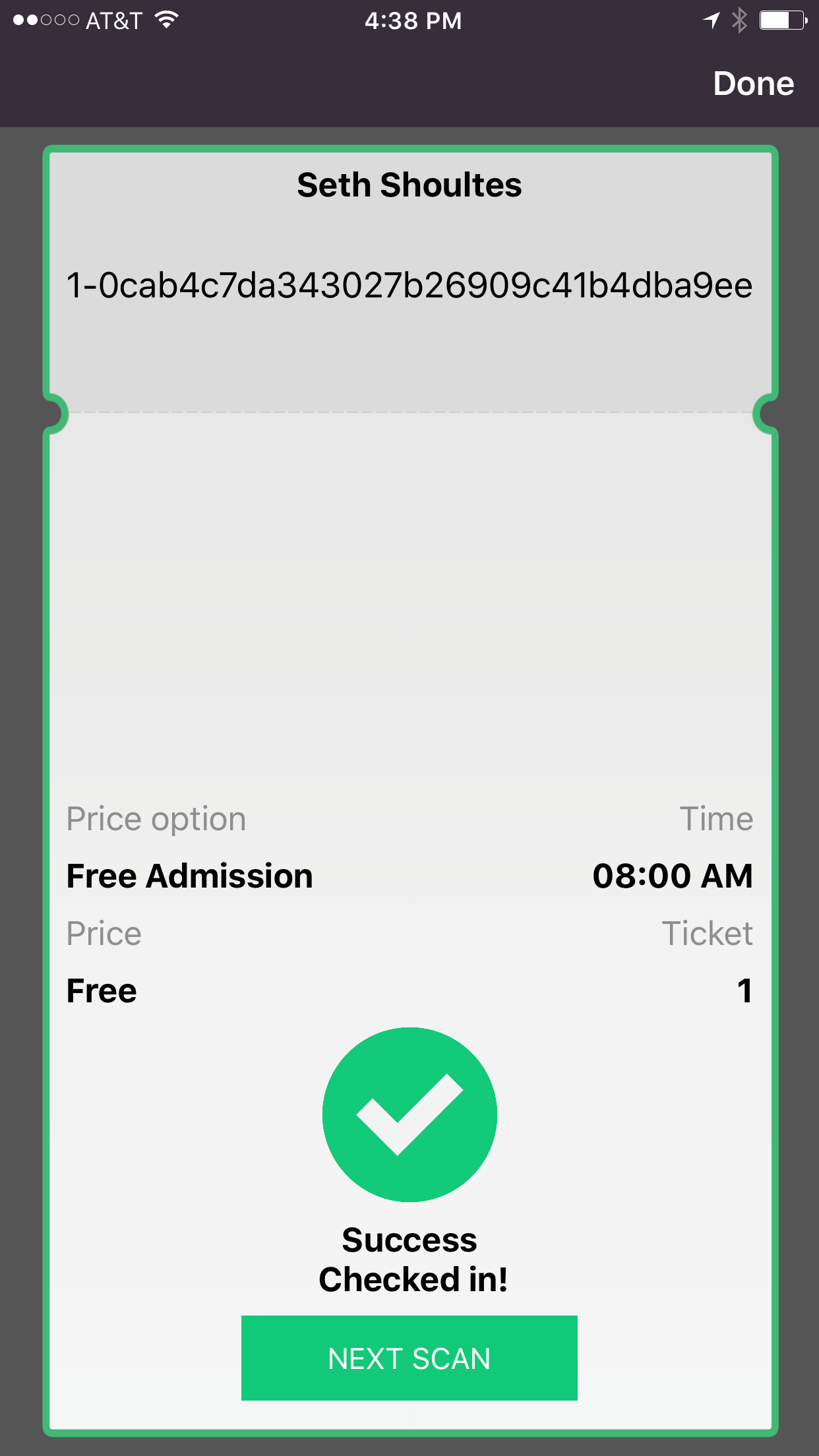Event App For Check In Ticket Scanning