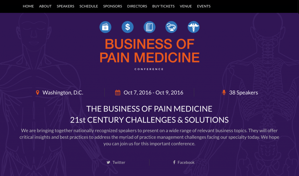 Business of Pain – Conference