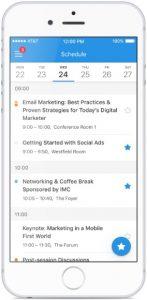 Attendify Event App Schedule