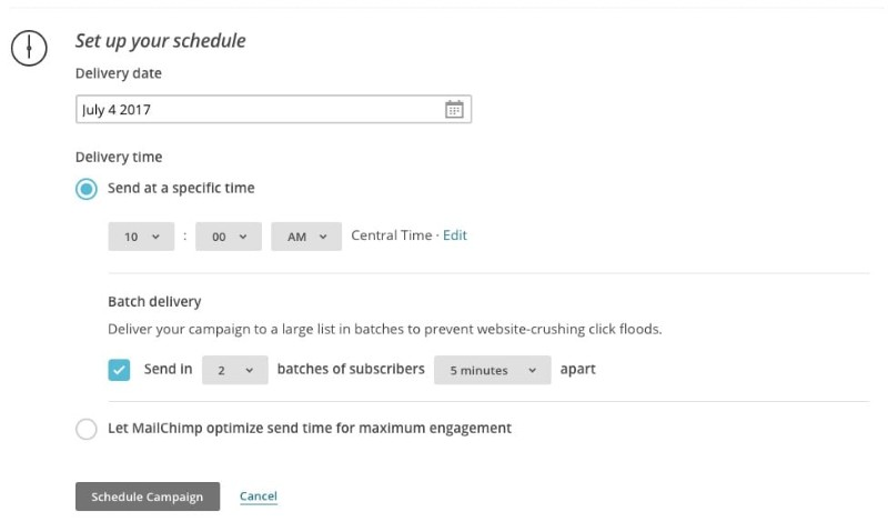 The Campaign Scheduler