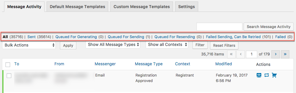 Processed Messages Retention Settings