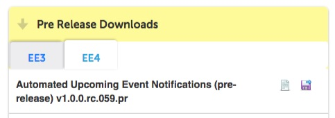 Pre Release Download Section