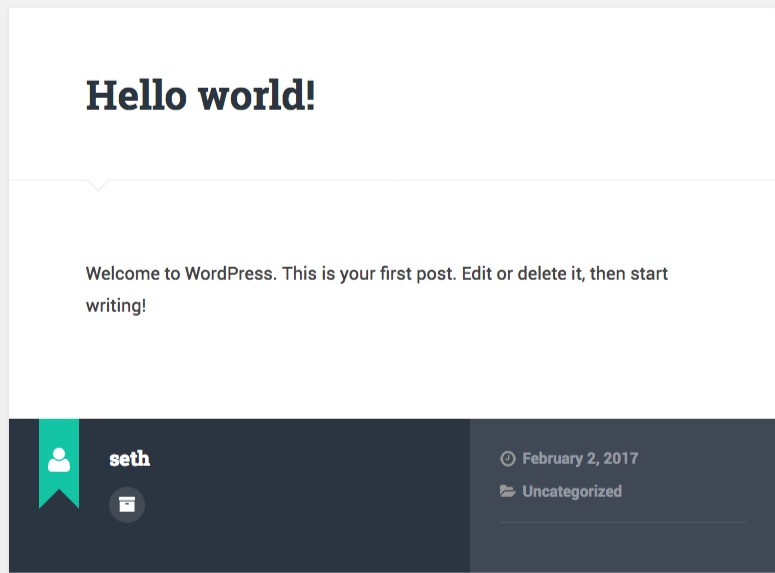 Default WordPress Post Output - Baskerville Theme