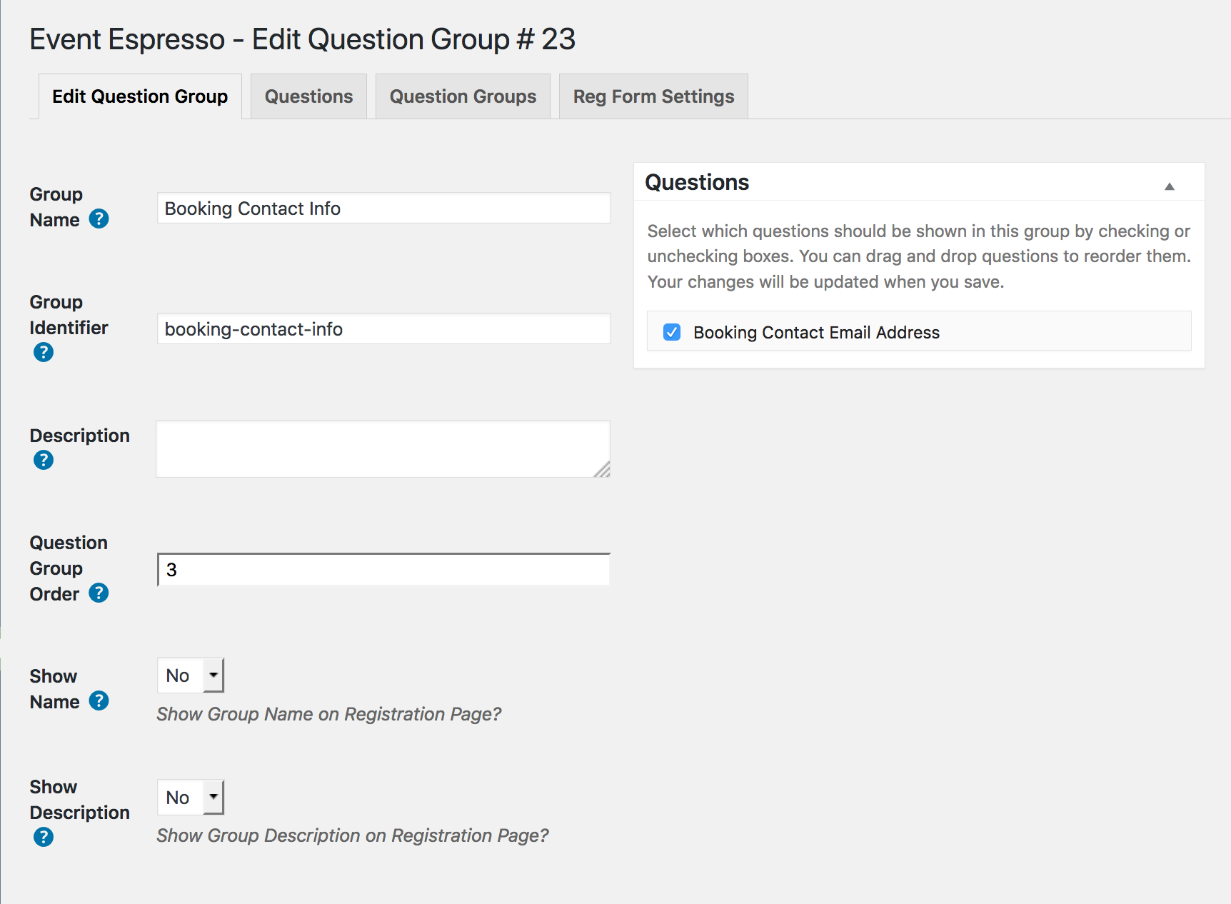 Add question group
