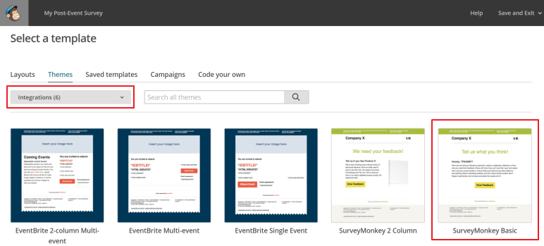 SurveyMonkey Basic template