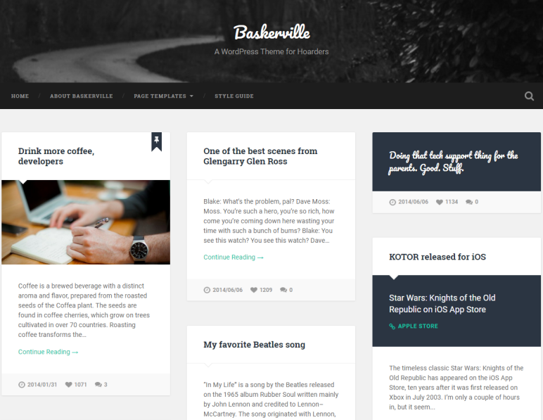 baskerville wordpress theme
