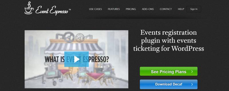 Event Espresso home page