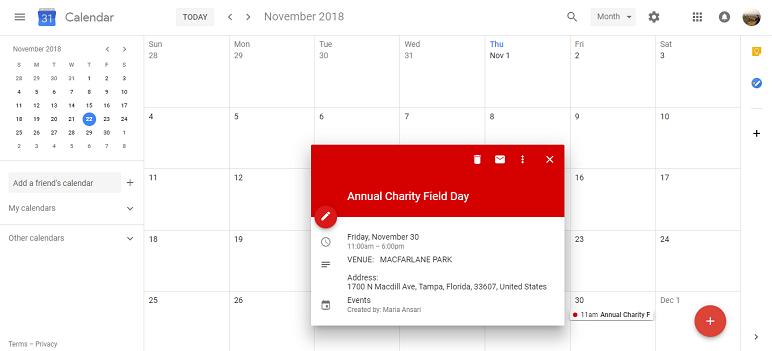 import ical event into Google Calendar